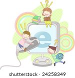 starting school | Shutterstock .eps vector #24258349
