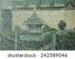 thai temple through the broken... | Shutterstock . vector #242589046