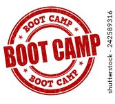 boot camp grunge rubber stamp... | Shutterstock .eps vector #242589316