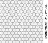 Abstract minimalistic black and white pattern hexagon | Shutterstock vector #242594056