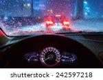 Blurry Car Silhouette Seen...