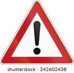 german warning sign for general ... | Shutterstock . vector #242602438
