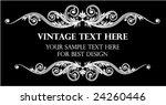 vintage frame on black...