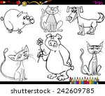 coloring book or page cartoon... | Shutterstock .eps vector #242609785