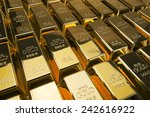 gold bars and financial concept ... | Shutterstock . vector #242616922