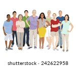 group of people illustrations...   Shutterstock .eps vector #242622958