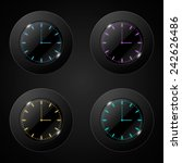 vector of black wall clock.... | Shutterstock .eps vector #242626486