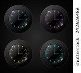 vector of black wall clock....   Shutterstock .eps vector #242626486