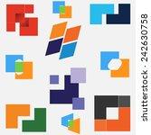business  company logo  unusual ... | Shutterstock .eps vector #242630758
