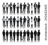 silhouettes of people with...   Shutterstock .eps vector #242632405