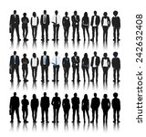 silhouettes of business people... | Shutterstock .eps vector #242632408