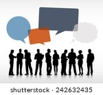 silhouettes of business people... | Shutterstock .eps vector #242632435