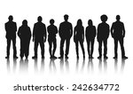 silhouettes of casual people in ... | Shutterstock .eps vector #242634772