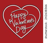 happy valentine's day lettering ... | Shutterstock .eps vector #242638366