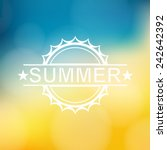 summer background with text  ... | Shutterstock .eps vector #242642392