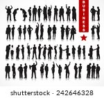 silhouettes of business people... | Shutterstock .eps vector #242646328