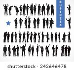 silhouettes of business people... | Shutterstock .eps vector #242646478