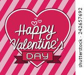happy valentine's day lettering ... | Shutterstock .eps vector #242657692