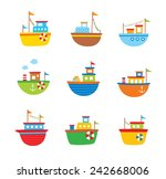 Cute Little Fishing Boat Vector