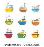 Cute Little Fishing Boat Vector