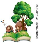 illustration of a popup book... | Shutterstock .eps vector #242684842