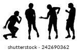vector silhouette of a man who... | Shutterstock .eps vector #242690362