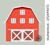 minimalistic illustration of a... | Shutterstock .eps vector #242695072
