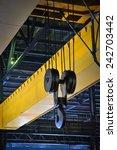 crane gantry in steel plant   Shutterstock . vector #242703442