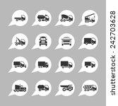 trucking icons | Shutterstock .eps vector #242703628