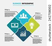 business rhombus puzzle... | Shutterstock .eps vector #242708002