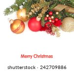 christmas background with red... | Shutterstock . vector #242709886