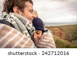 closeup of young happy couple... | Shutterstock . vector #242712016