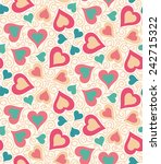 seamless pattern with heart... | Shutterstock .eps vector #242715322