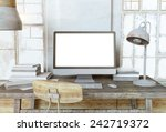 creative workplace in... | Shutterstock . vector #242719372