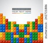 template of gloss symmetric...   Shutterstock .eps vector #242721886
