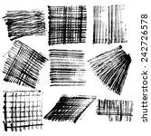 vector brush strokes collection   Shutterstock .eps vector #242726578