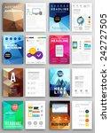 set of flyer  brochure design... | Shutterstock .eps vector #242727505