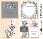 wedding invitation cards with... | Shutterstock .eps vector #242729626