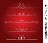set calligraphic valentine's...   Shutterstock .eps vector #242747875