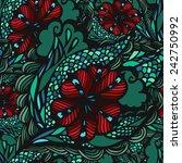 floral seamless pattern | Shutterstock .eps vector #242750992
