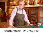 portrait of violin maker in shop   Shutterstock . vector #242752642