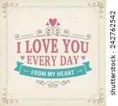 valentine and wedding... | Shutterstock .eps vector #242762542