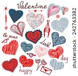 vector valentine set with... | Shutterstock .eps vector #242763382