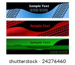 banner with tire treads | Shutterstock .eps vector #24276460