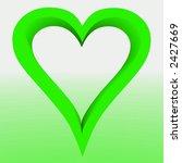 green heart | Shutterstock . vector #2427669