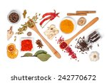 spices and herbs on white... | Shutterstock . vector #242770672