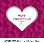 valentine greeting card with... | Shutterstock .eps vector #242773468