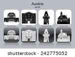 landmarks of austria. set of... | Shutterstock .eps vector #242775052