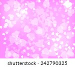 background with hearts to... | Shutterstock .eps vector #242790325