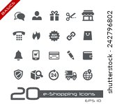 e shopping icons    basics | Shutterstock .eps vector #242796802
